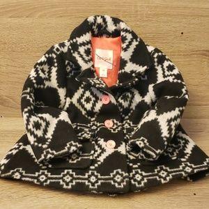 NEW Girls Winter Pea Coat Southwest look Wool-Like